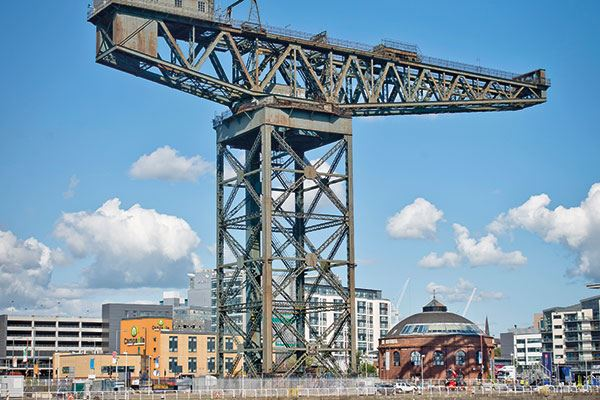 The Finnieston Crane is a symbol of the city's engineering heritage