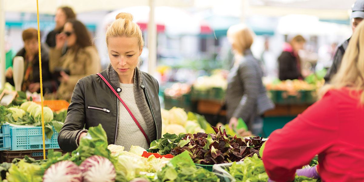 Pick up fantastic local produce at one of the region's farmers' markets