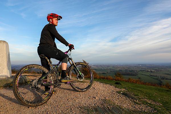 Mountain biking on The Wrekin