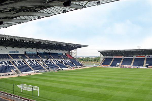 The Falkirk Stadium, home to Falkirk FC
