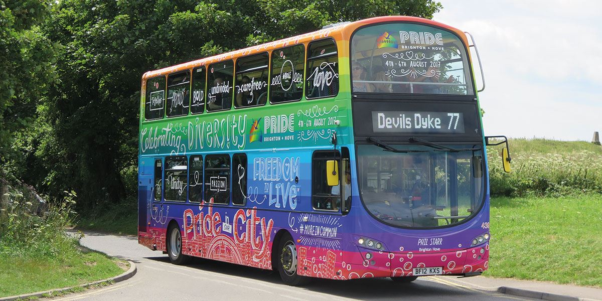 Bus travel in Brighton and Hove is easy and convenient