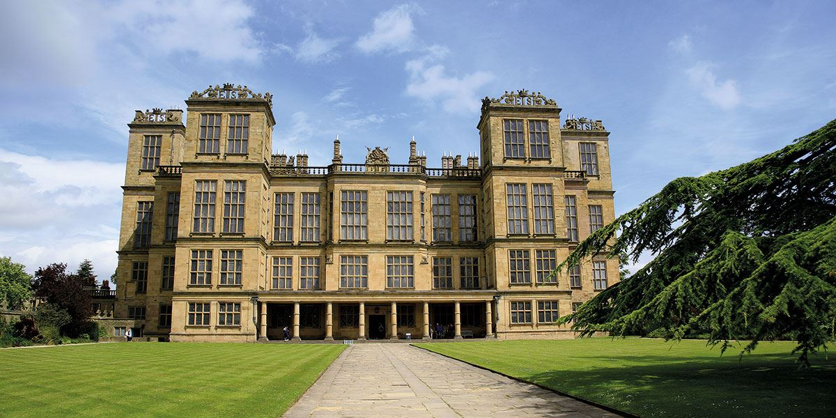 Hardwick Hall is one of Derbyshire's beautiful historic buildings