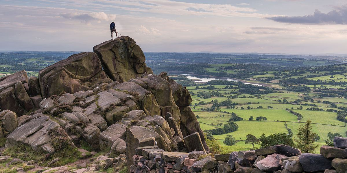 Take in some of the breathtaking views that the Peak District National Park offers