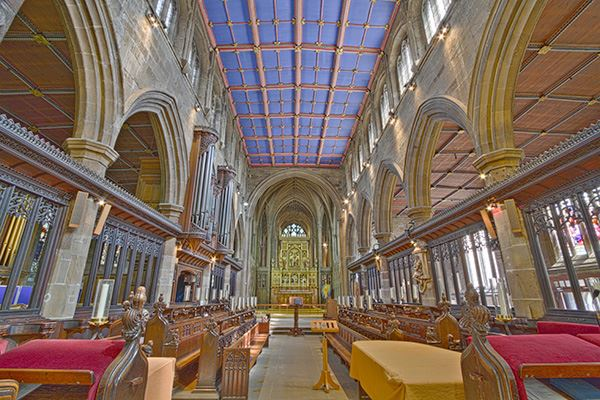 Wakefield Cathedral is an architectural focal point