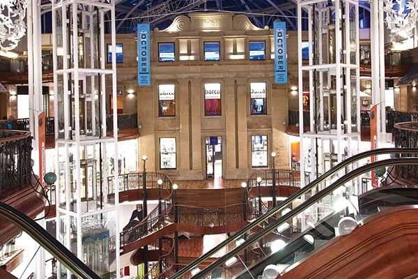 Shopaholics will be in their element at Princes Square Shopping Centre