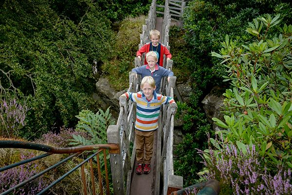 Walk the Swiss Bridge at Hawkstone Park Follies