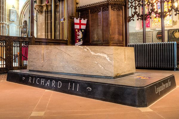 See King Richard III's tomb at Leicester Cathedral