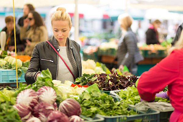 Spend some time at the Farmers' Market