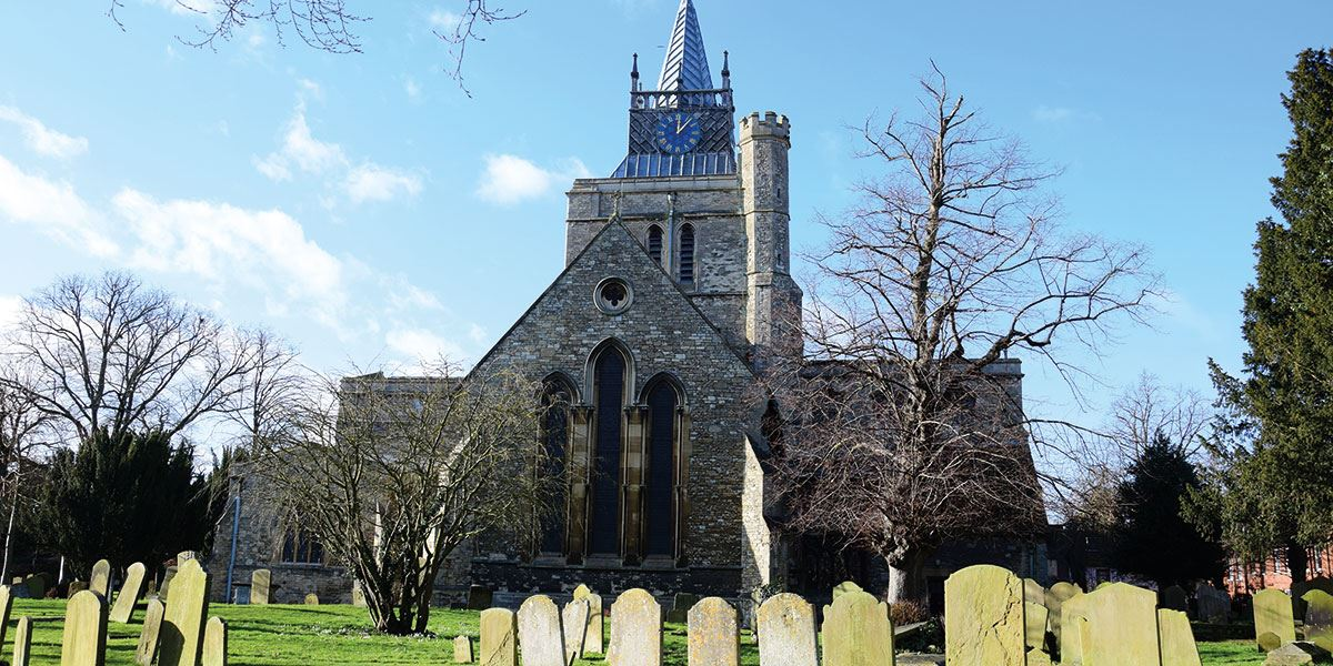 Aylesbury is known from archaeological digs to date back to 1500BC ((pictured St Mary's Church, Aylesbury)