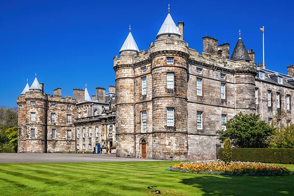 The Palace of Holyroodhouse is The Queen's official residence in Edinburgh