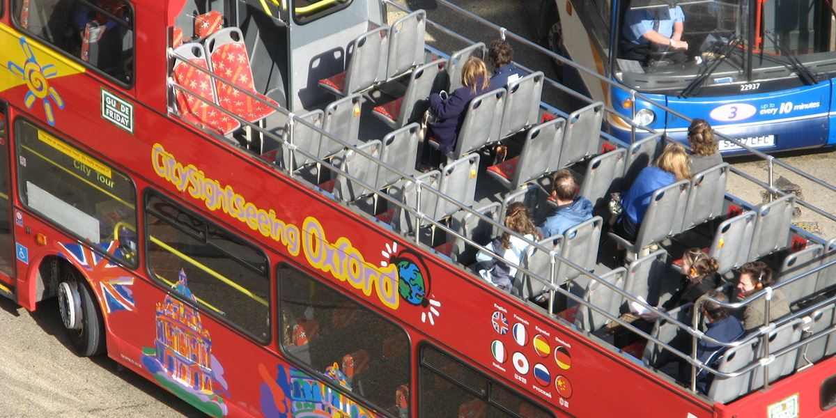 The City Sightseeing Bus is a useful way to get around Oxford