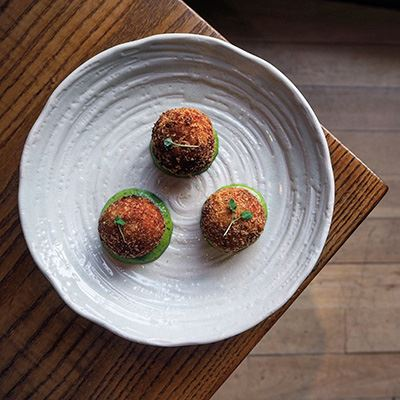 Salmon fish cakes at 60 Hope Street