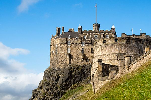 Edinburgh Castle towers imperiously over the entire city