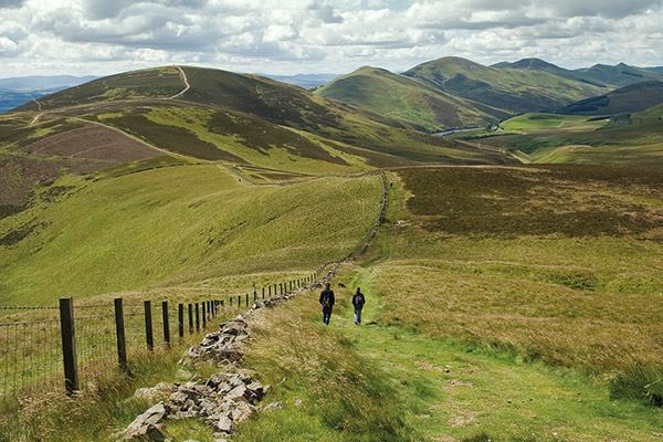Walking path in the Pentland Hills Regional Park, just south of Edinburgh