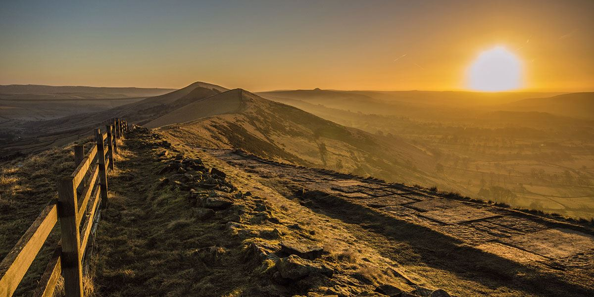 Get your walking boots on and head to the summit of Mam Tor