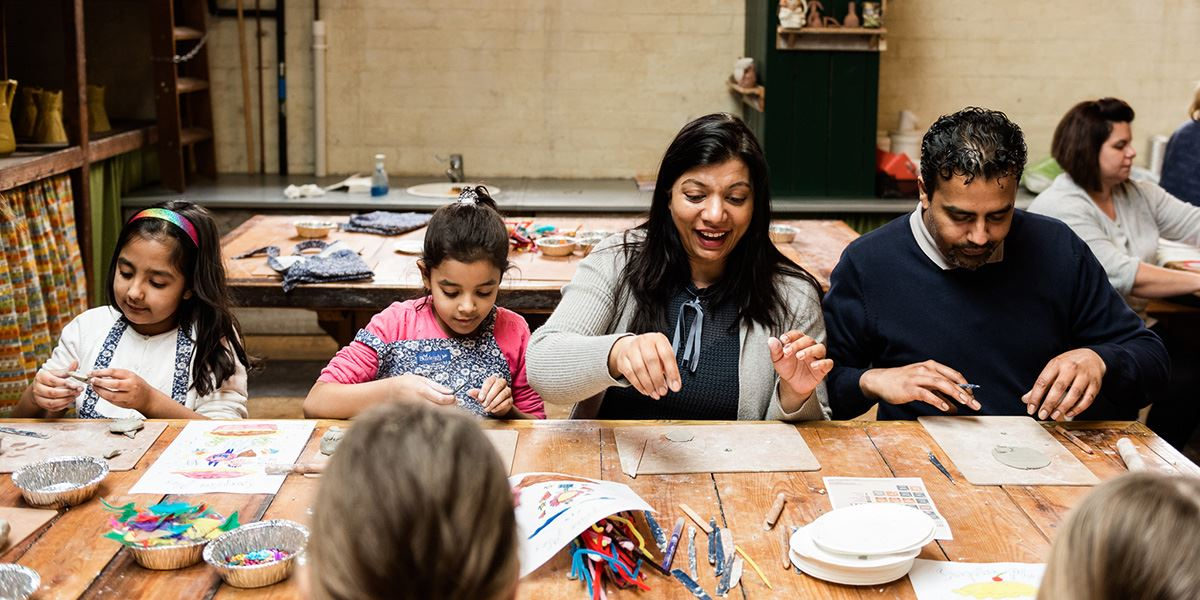 Family activities at Middleport Pottery