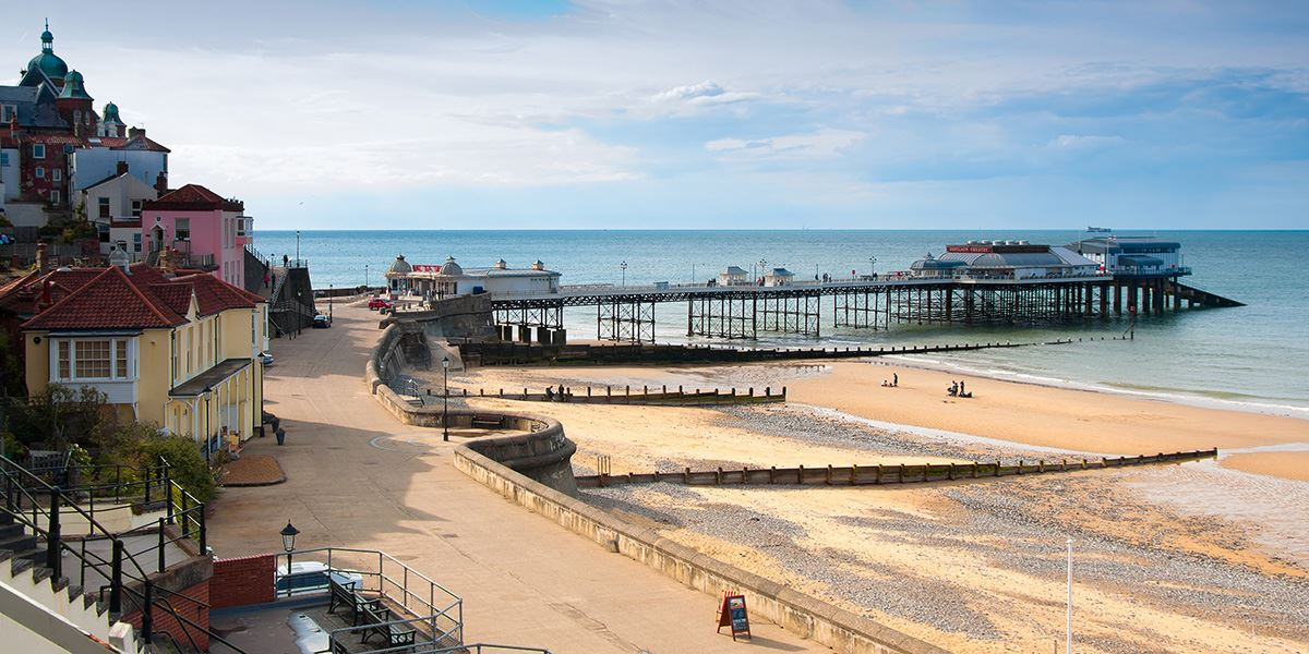 The seaside town of Cromer and its famous pier