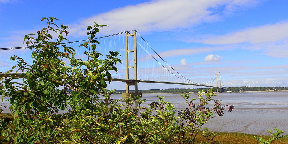 Admire the Humber Bridge