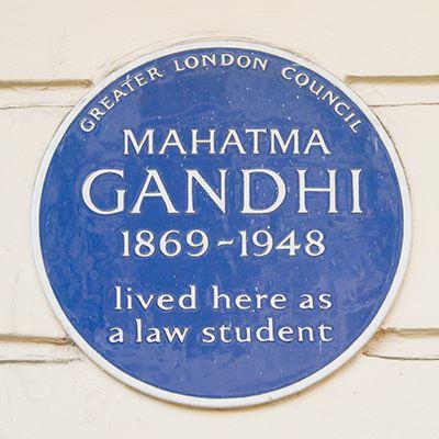 Mahatma Gandhi, 20 Baron's Court Road, Hammersmith & Fulham