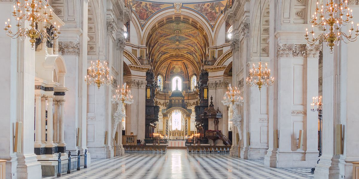 In 1668, Christopher Wren began reconstruction of St Paul's Cathedral which was destroyed in the Great Fire