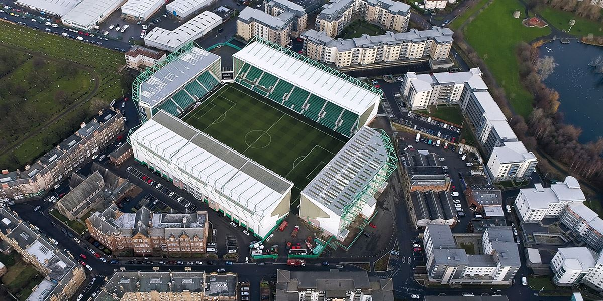 Easter Road, home of Hibernian Football Club and host to two of the league derbies battled out between Hearts and Hibs each season