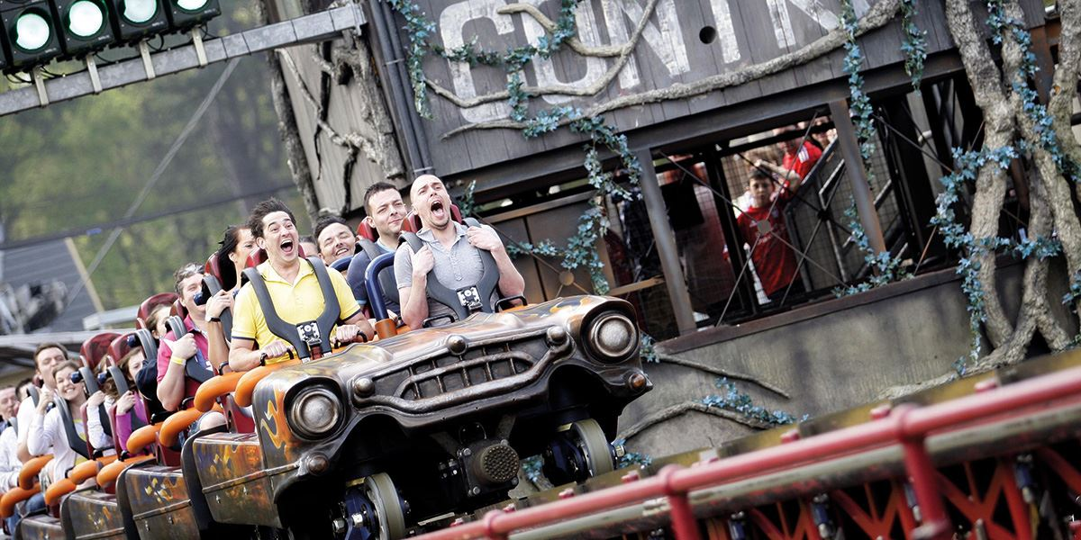 Ride the Rita rollercoaster at Alton Towers
