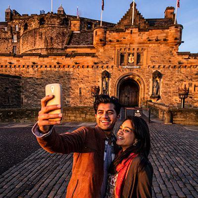 Take a selfie at Edinburgh Castle