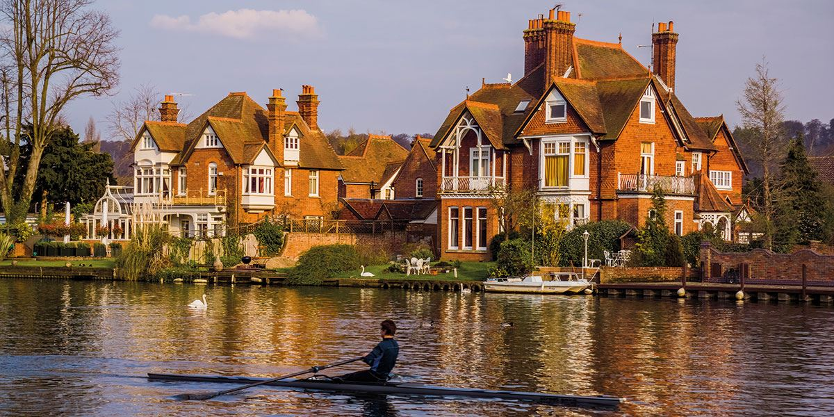 Picturesque Marlow is popular with rowers