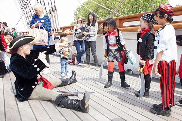 Kids will love dressing up on the Cutty Sark