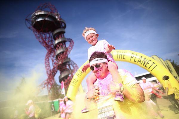 Queen Elizabeth Olympic Park Colour Run