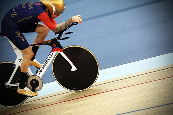 Bradley Wiggins taking part in London cycling event