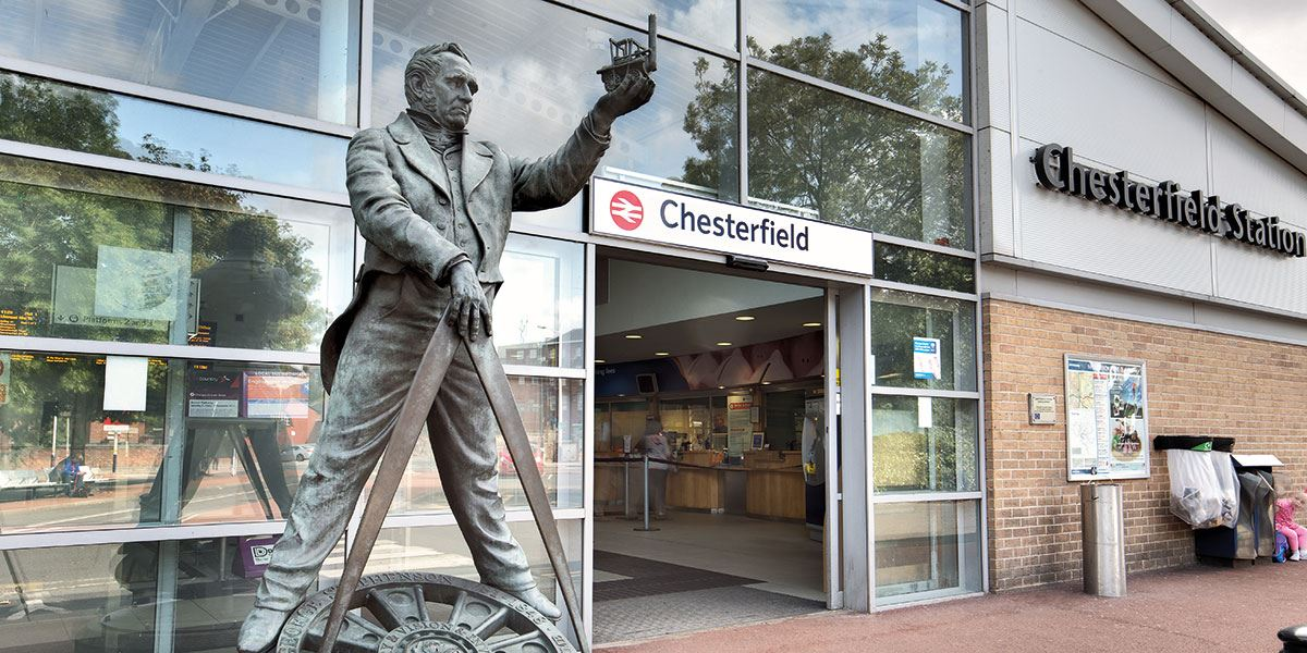 Chesterfield is one of the region's mainline train stations