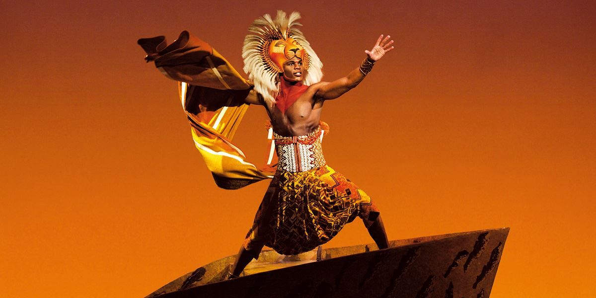 Andile Gumbi as Simba in The Lion King production