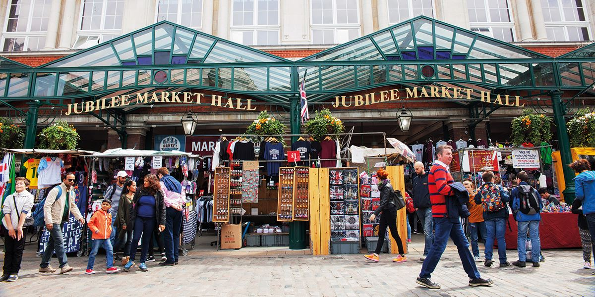 Pick up a bespoke gift in the market at Covent Garden