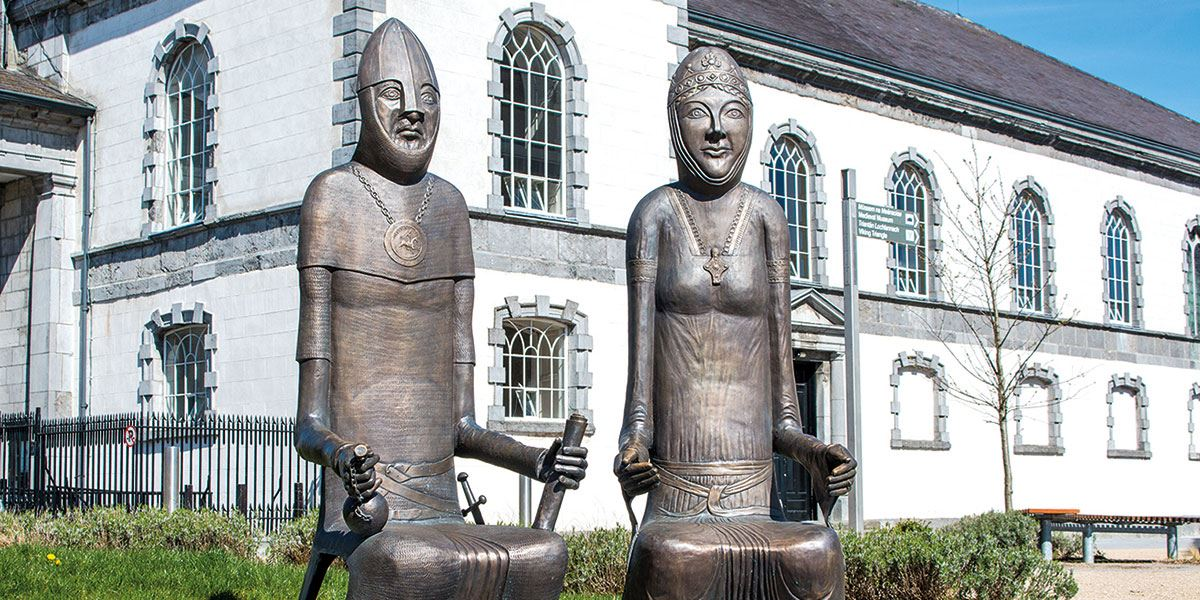 Strongbows and Aoife Statues Irelands Ancient East history