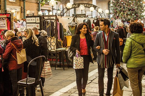 Christmas shopping at Covent Garden Market
