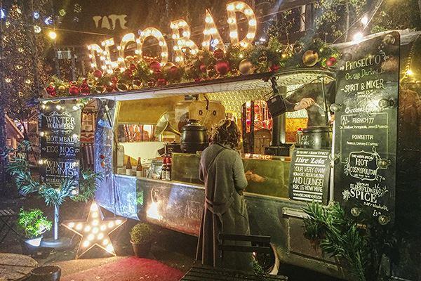 Festive food truck