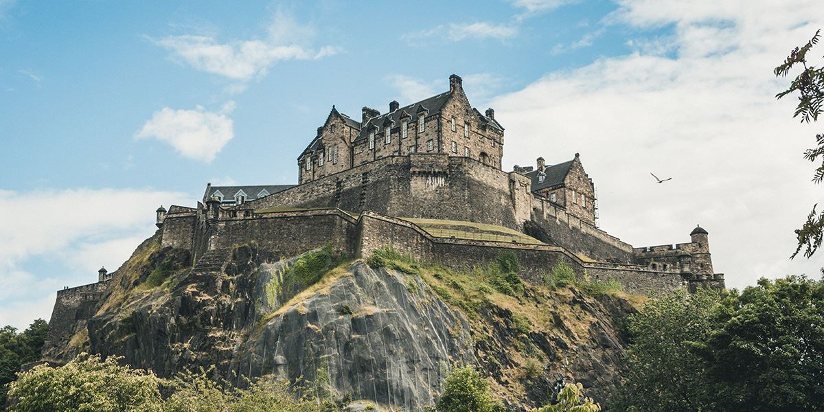 Edinburgh's castle perches atop an inactive volcano