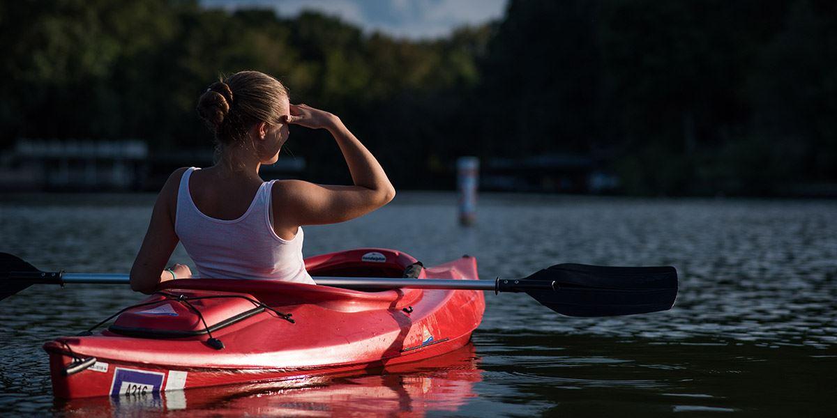 Woman in Kayak Top 10 things East Sussex