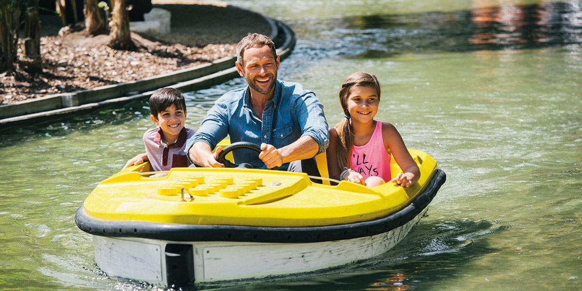 Boat on river Legoland 48 hours in Berkshire