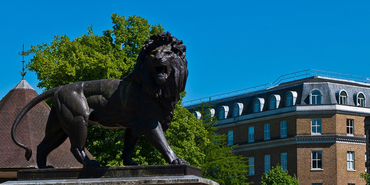 Lion statue, Reading History of Berkshire