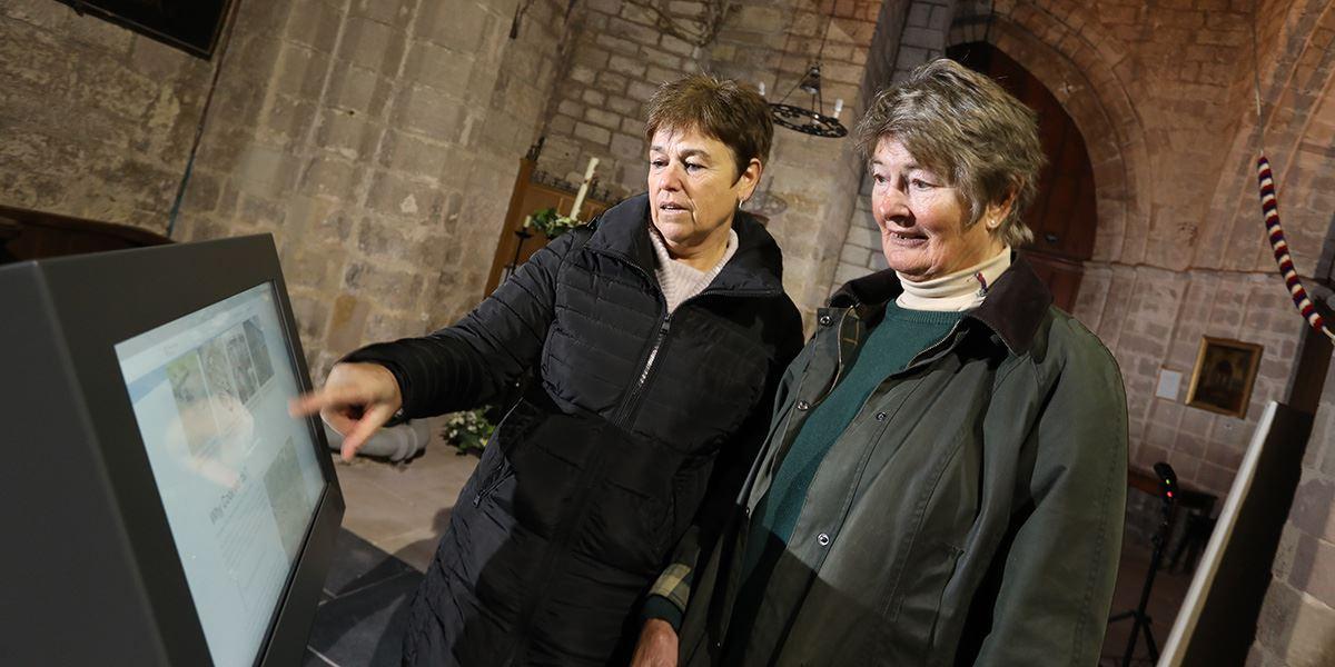 Visitors at St Aidan's Church