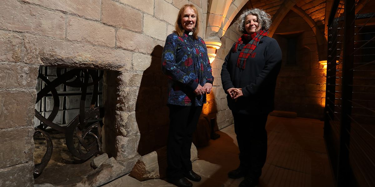 Revd Louise Taylor-Kenyon (left) at St Aidan's