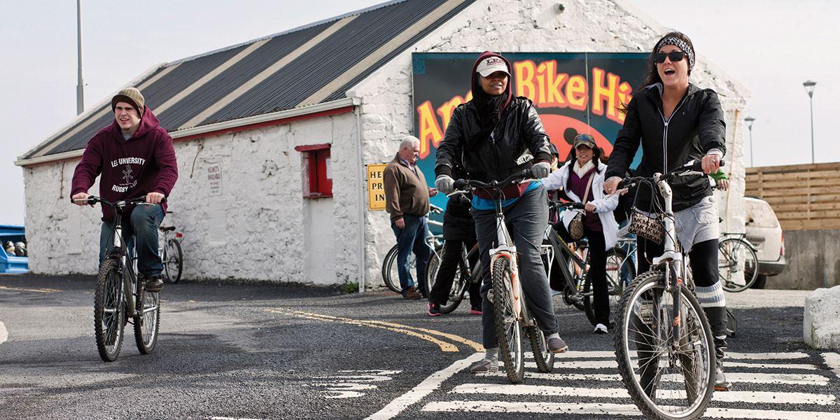 People on bikes