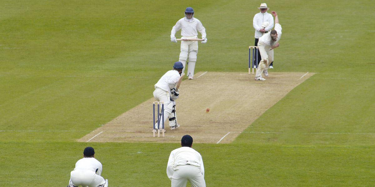 Men playing cricket Sport in Lancashire