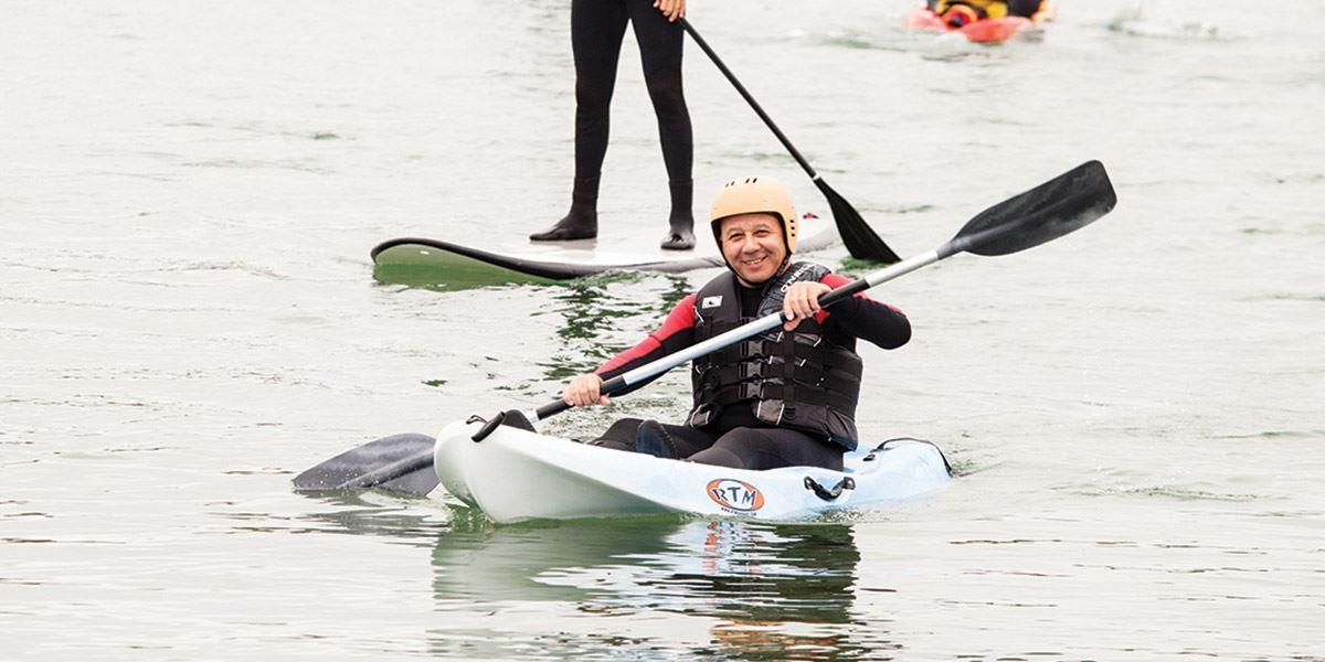 Man in kayak Sport in County Galway