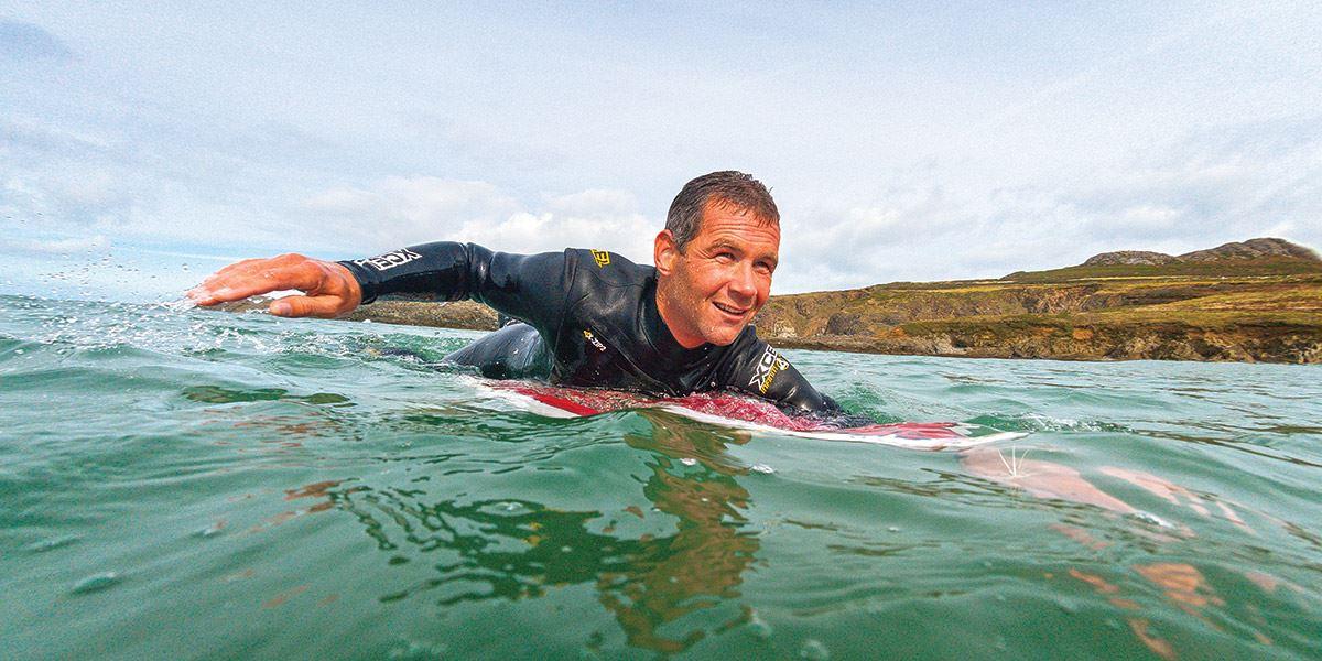 Surfer in the sea
