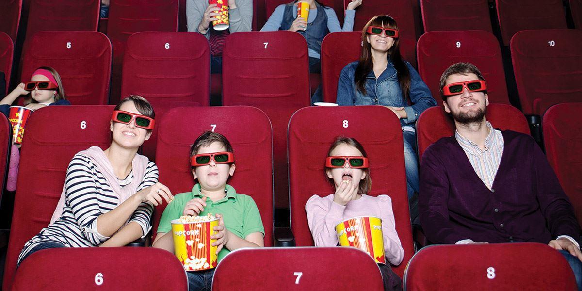 Family at cinema