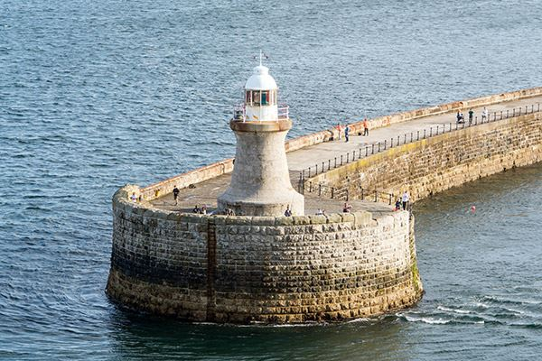 Tynemouth's North Pier Lighthouse