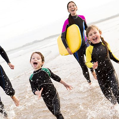 Hit the surf at Longsands